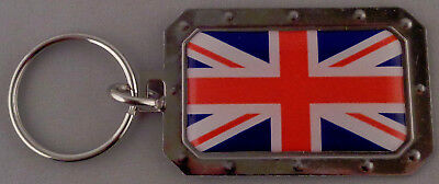 ENGLAND/GREAT BRITAIN/UNITED KINGDOM UK English Flag Metal Key Ring DOMED IMAGE