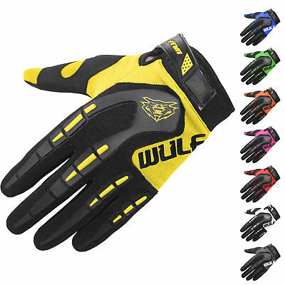 Wulf Attack Cub Motocross Gloves Wulfsport Dirt Bike Kids Youth Childrens MX