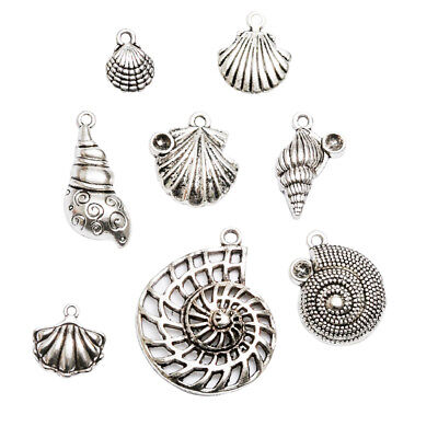 8x Seashell Conch Charms Pendants for DIY Necklace Bracelet Jewelry Findings