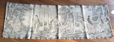 Antique Tapestry Greco Roman Goddess Muse Greek Scenic Ready for Hanging