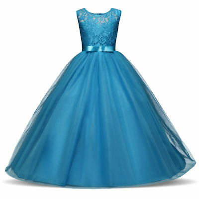 Flower Girl Dress Princess Formal Birthday Pageant Holiday Party Bridesmaid NEW