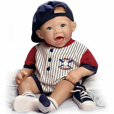 Michael The Little Slugger So Truly Real Lifelike Baby Doll by Ashton Drake New