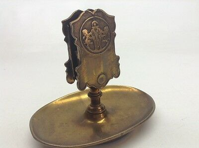 Vintage Brass Or Bronze William Bernard Inc. NY Match Holder