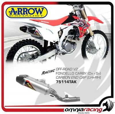 Arrow 2 Exhaust Off-Road V2 Alu Not Approved Honda CRF 450 R 13>16