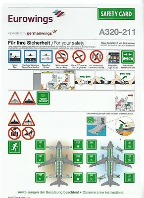 Safety Card    Eurowings operated by germanwings  A320-211