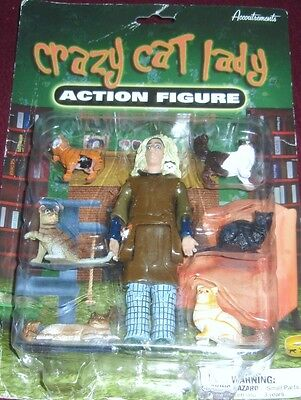 Accoutrements Crazy Cat Lady Action Figure - Cat Lady + Cats - New!