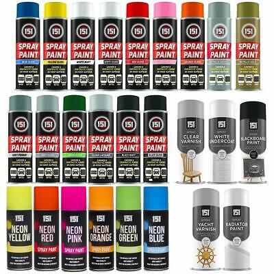 Spray Paint Aerosol Can Neon Gloss Matte Multi-Purpose Car Home Metal Wood Brick