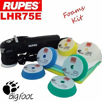 Rupes Bigfoot LHR75E Electric Orbital Polisher Car Polishing Machine Mini Buffer