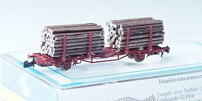 FR Z-scale 47.805 Norwegian Timber Car class Lps of the NSB Norway METAL