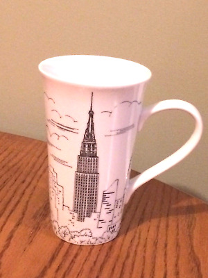 222 FIFTH City Scenes Tall Latte Coffee Mug New York Empire State Building
