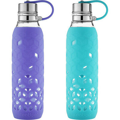 Contigo 20 oz. Purity Petal Glass Water Bottle with Tethered Lid