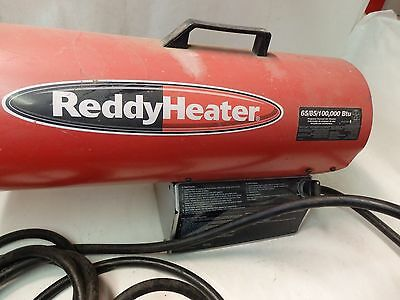 ReddyHeater Propane Forced Air Heater 65/85/100,000 Btu 120 V 60 Hz portable A6