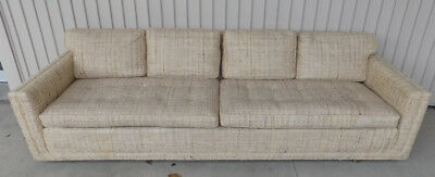 Edward Wormley Limo sofa by Dunbar original upholstery signed mid century modern