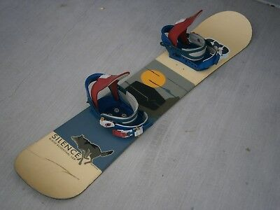 Silence Blaise Rosenthal 148 Youth Snowboard w/ Burton Freestyle Bindings - Used