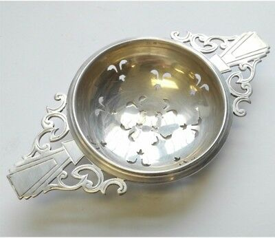William Adams Ltd Sterling Silver Double Handle tea strainer