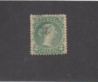 CANADA # 24i FVF-VERY LIGHT USED 2cts EMERALD GREEN LARGE QUEEN CAT VALUE $75