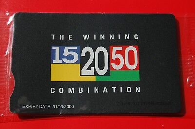 BT Staff 15 20 50 Winning Combination Phonecard Mint In Sealed Pack Never Used
