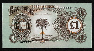 BIAFRA (P5a) 1 Pound ND(1968) UNC