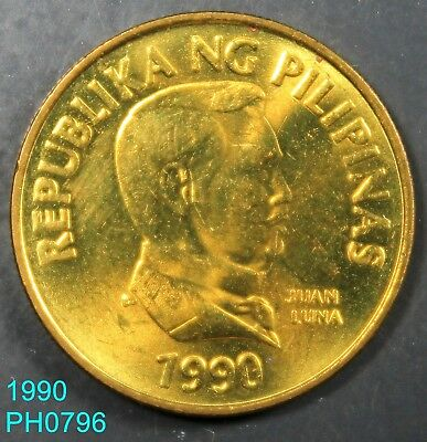 PHILIPPINES 25 Sentimos 1990 uncirculated Butterfly