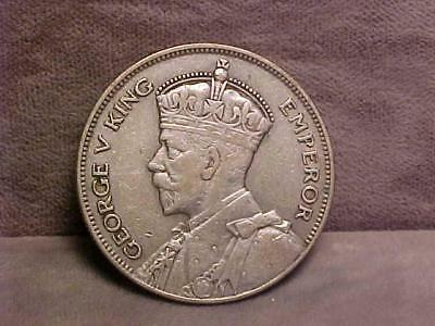 New Zealand ½ Crown Silver Coin 1935