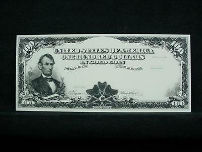 NobleSpirit NO RESERVE {3970} ABN Archive $100 Gold Cert. Uniface Trial Proof