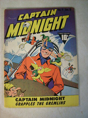 Captain Midnight #4 Grapples The Gremlins, 1943, Scraps The Japs