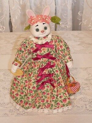 Goebel - Porcelain Bunny Doll - Ms. Strawberry Blake