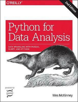 Python for Data Analysis, 2e by Wes Mckinney Paperback Book Free Shipping!