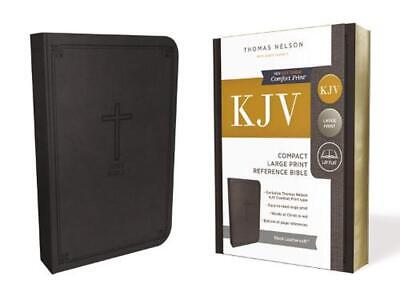 Kjv, Reference Bible, Compact, Large Print, Leathersoft, Black, Red Letter Editi