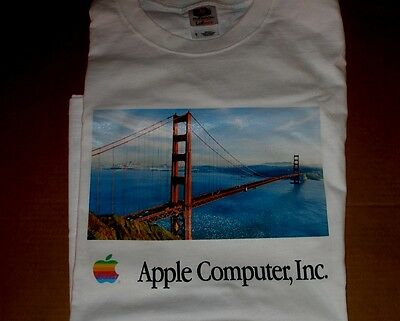 Apple Computer Logo Golden Gate Bridge T-shirt - Day - L