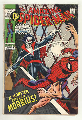 October 1971 THE AMAZING SPIDER-MAN #101. A Monster Called MORBIUS! GIL KANE