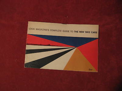 1962 Look Guide to new cars Brochure Booklet Old Original Ford Buick Chevy Olds