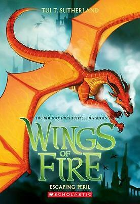 Wings of Fire #8: Escaping Peril by Tui T. Sutherland Paperback Book Free Shippi