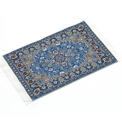 Blue Starry Night Carpet For 1/12 Dollhouse Miniature Toy House Decor Kids Gift