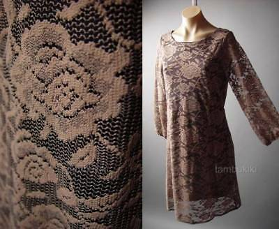 Sale Victorian Floral Antique Style Tapestry Rose Pattern Lace Tea 69 ac Dress S