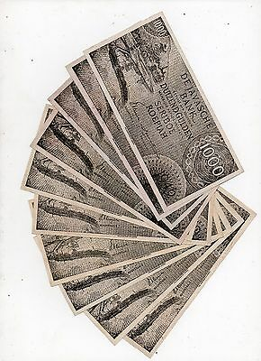 1000 roepiah 1946 x 10 Notes de javasche bank, Old fake, see scan B1149