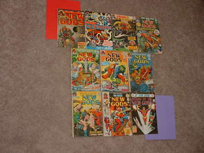 1971 DC Lot 10 Jack Kirby New Gods 1 2 3 4 5 6 7 8 9 13 VG to FN Free Shipping
