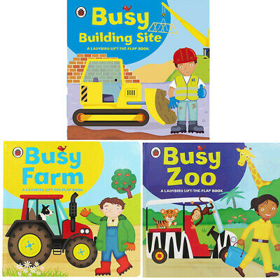 Ladybird lift-the-flap book Collection By Amanda Archer 3 Books Set Busy Farm