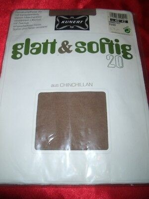 VINTAGE Kunert glatt & softig Feinstrumpfhose Gr. 40-42 smoke Collant Tights OVP