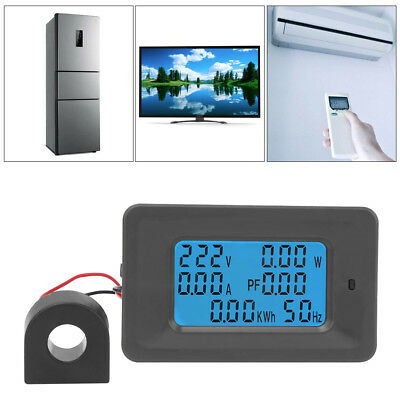 AC110-250V 220V 100A Digital LCD Meter Monitor Power Energy Ammeter Voltmeter EM