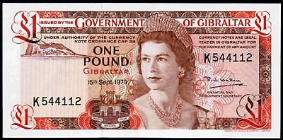 Gibraltar. One Pound, series K 544112, 15-9-1979, Uncirculated.
