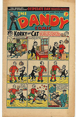 THE DANDY COMIC APRIL 23rd 1949 EASTER #394 KORKY BLACK BOB DESPERATE DAN FINE