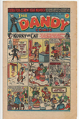 The Dandy Comic Jan 1St 1949 #386 Korky Keyhole Kate Desperate Dan Scarce Vg/f