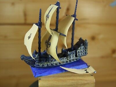Classic Metal Warhammer Man O War Bretonnian Galleon Painted (185)