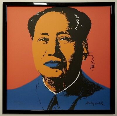 H - Andy Warhol Mao Zedong Signed Lithograph - Limited 1114 of 2400 pcs.
