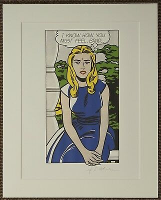 "Roy Lichtenstein ""I know how you must feel, Brad.."" Lithograph plate signed"