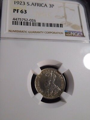INV #S42 South Africa 1923 3 Pence NGC Proof-63