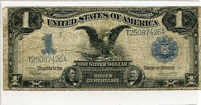1899 Black Eagle 1$ Large Size Silver Certificate Note...starts @ 2.99