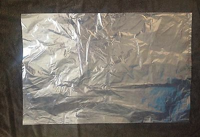 "10 Large Clear Polythene Plastic Bags 20"" x 30""(Packaging/storage) FREE P+P"