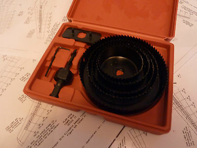 hole saw cutter set aircraft tools sheet metal drills steel, alloy cabin panel 8